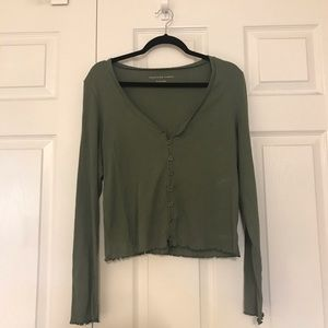 Forest Green American Eagle Long-Sleeve Shirt